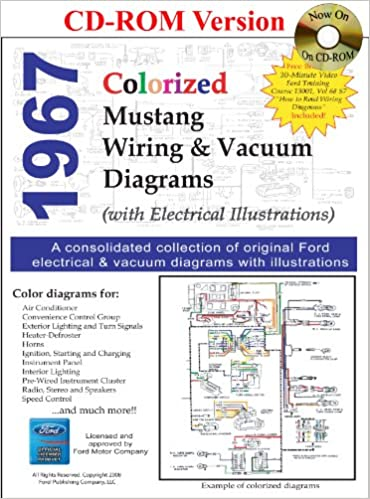 1967 colorized mustang wiring and vacuum diagrams: david e  leblanc:  9781603710268: amazon com: books