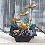 water and rock fountain - Diensday Indoor Tabletop Fountain Decor Home Light Relaxation Cascading Rock Pump Waterfall Fountains Zen Small Desk New(10.2