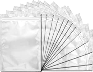 100 Pack Mylar Bags for Food Storage - 4 x 7 Inch Resealable Smell Proof Bags Aluminum Foil Packaging Pouch Bag Silver