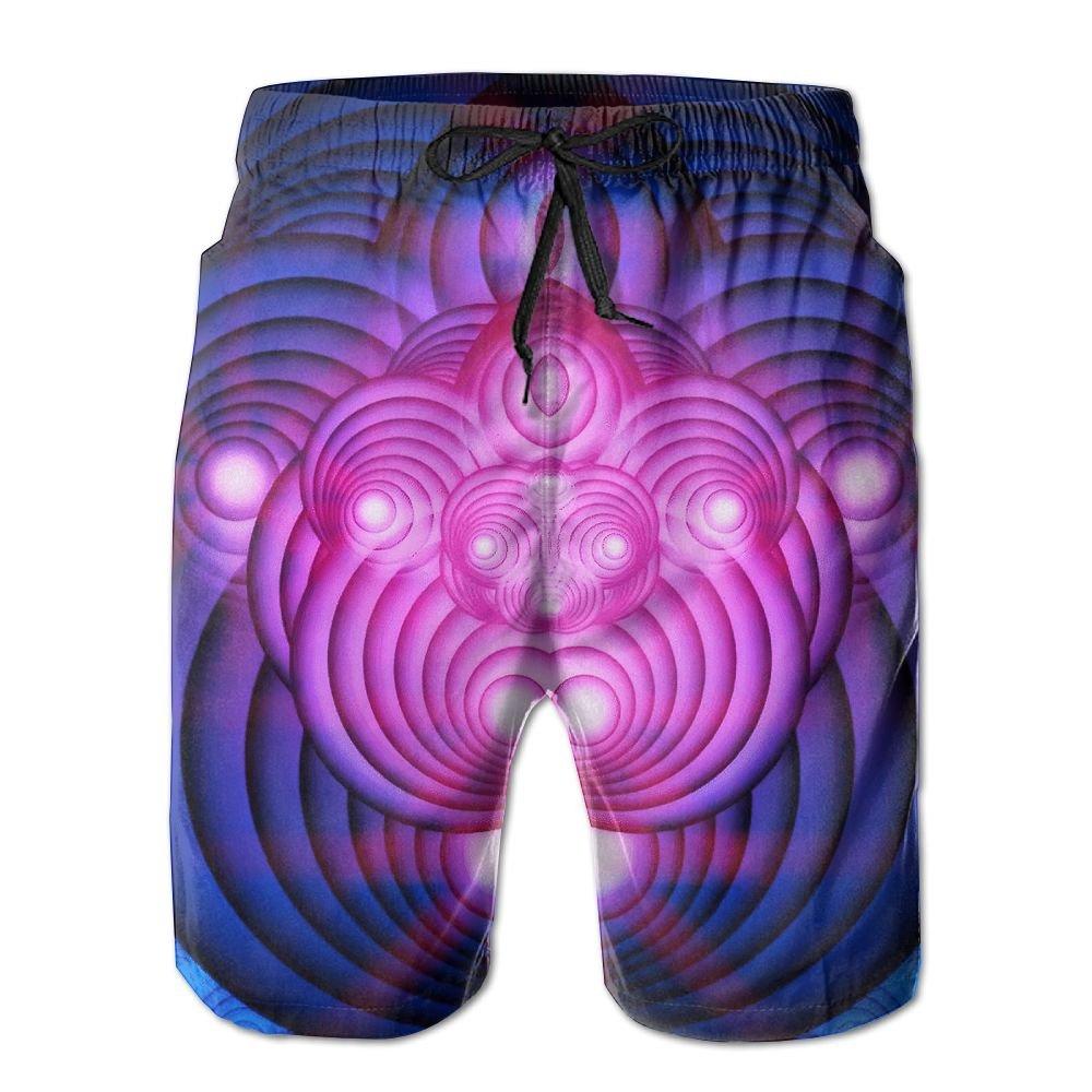 Psychadelic Flower Of Life Beach Shorts Swim Trunks Board Pants With Pockets For Men Tydo