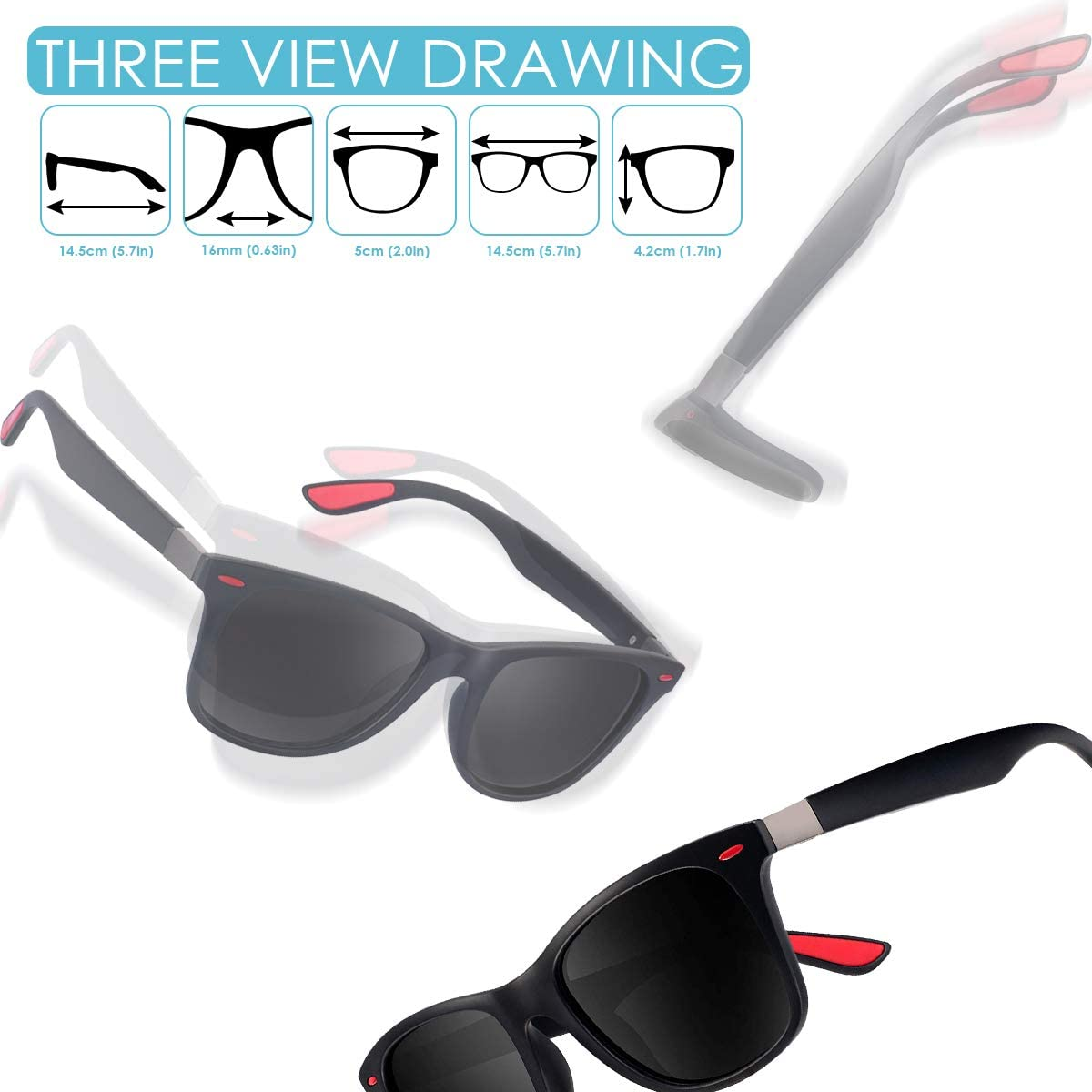Moda Occhiali da Sole Donna e Uomo UV400 Protezione CHEREEKI Occhiali da Sole Polarizzati