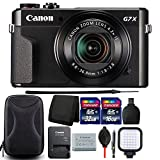 Canon G7X Mark II PowerShot 20.1MP Digital Camera (Black) + 48GB Memory Card + Wallet + Reader + Lens Pen + Dust Blower + Compact Video Light + Case