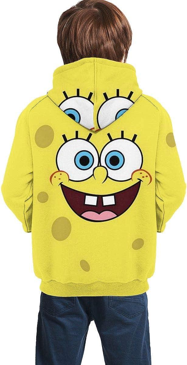 LoBake Spongebob Sweatshirt Hoodie 3D Printed Youth Kids Pullover Cartoon for Teen Boys Girls