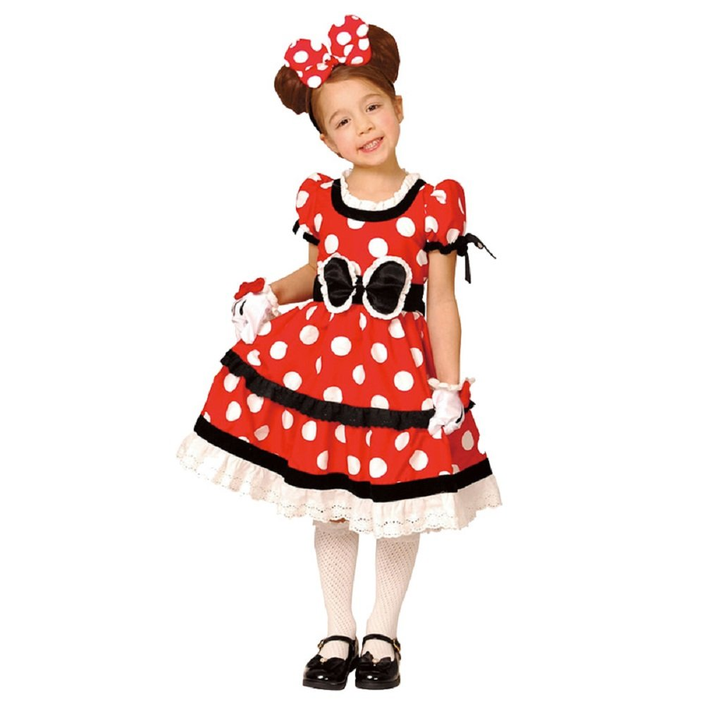 Disney Minnie Mouse Costume -- Classic-Style -- Girl's Red L Costume