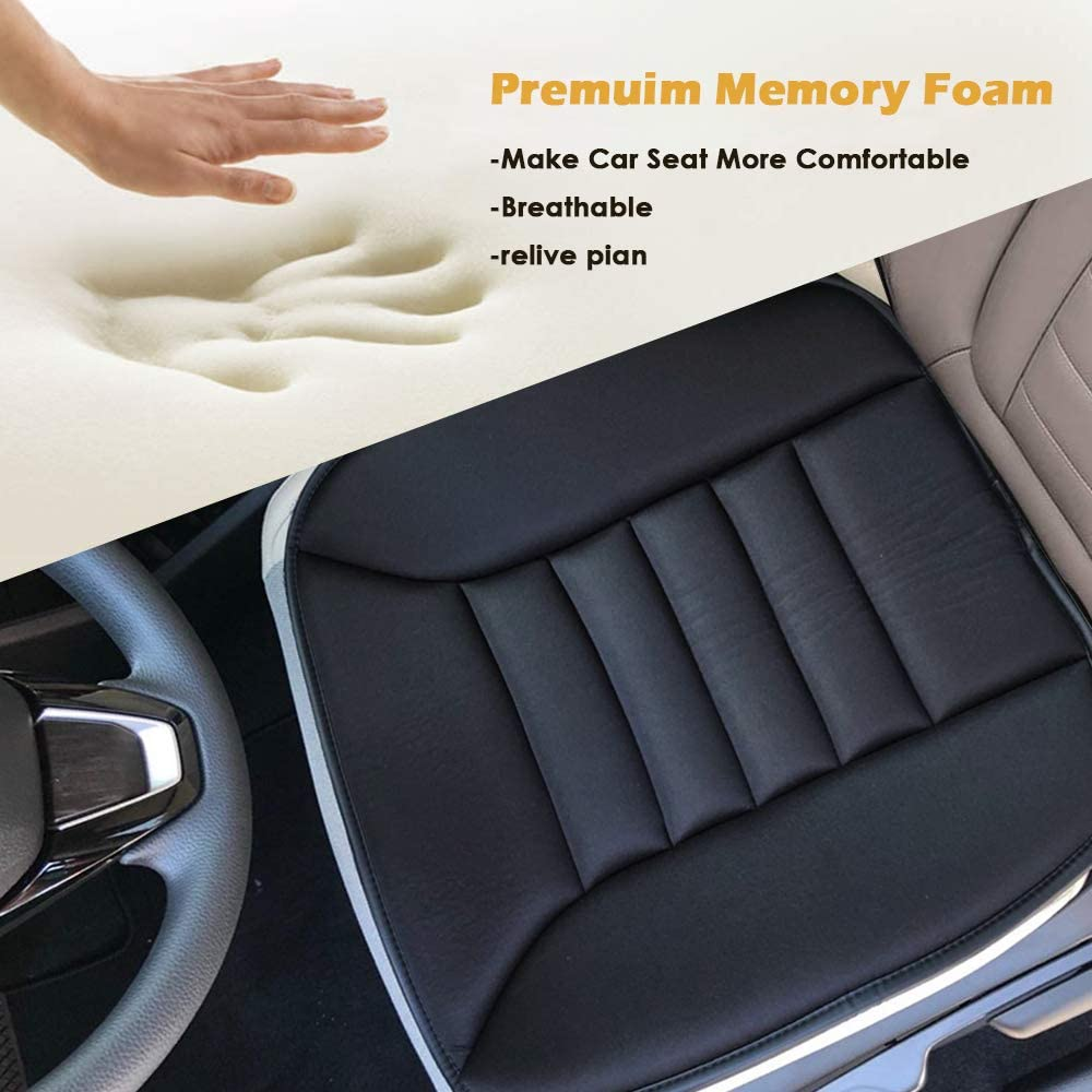 Big Ant Car Seat Cushion Pad Memory Foam Seat Cushion,Pain Relief Memory Foam Cushion Comfort Seat Protector Perfect for Car Office Home Use,Black 1PC