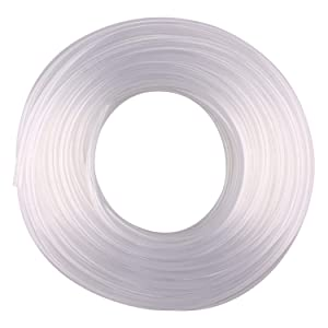"DERNORD PVC Tubing 3/8""ID X 1/2""OD Flexible Clear Vinyl Hose 100 Feet for Food Grade"