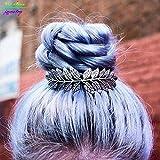 High-Season Unique Vintage Gold/Silver Plated Leaves Bun Top Hair Comb Vintage Wedding Hair...