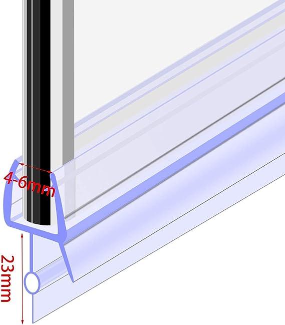 Tira de plástico para mampara de ducha, 4 – 6 mm, cristal curvado ...