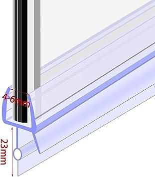Tira de plástico para mampara de ducha, 4 – 6 mm, cristal curvado y plano, 23 mm: Amazon.es: Bricolaje y herramientas