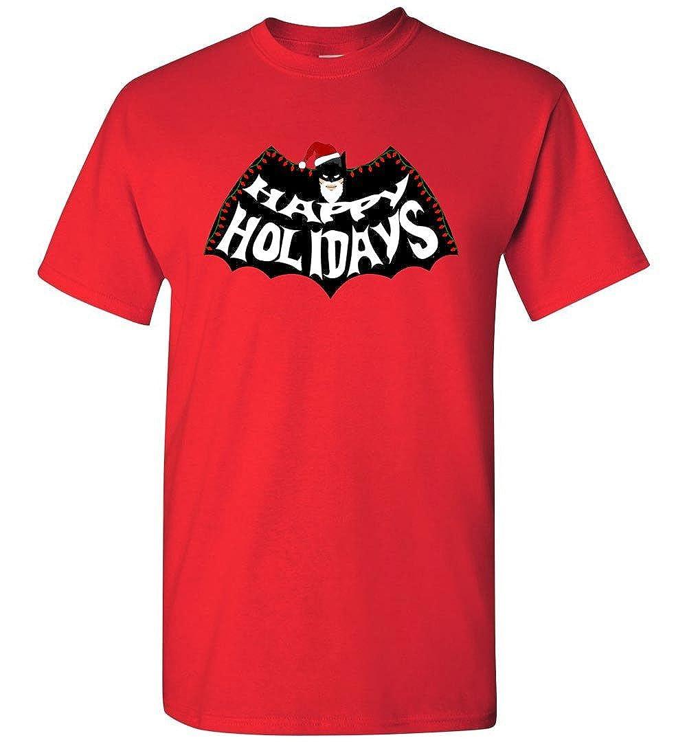 TEEPAAA Super Bat Christmas Happy Holidays Man Happy Holidays T-Shirt