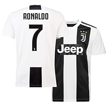318efd8d812 ukgiftshop 2018 19 Ronaldo 7 Juventus Home Football Club Mens Shirt Jersey  Tee Top (Medium)  Amazon.co.uk  Sports   Outdoors