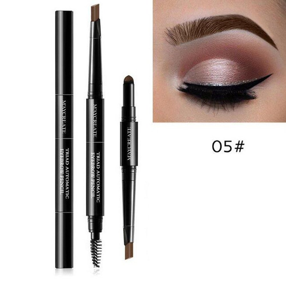 M'AYCREATE 3 in 1 Waterproof Multifunctional Automatic Eyebrow Pigment Makeup Kit Beauty Daily Beginner Portable Lasting (E)