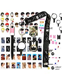 BTS Gifts Set for Army - 32Pcs BTS Lomo Cards/2 BTS Phone Ring Holder/ 1 BTS Lanyard/ 1 BTS Keychain/ 1 BTS Pen/ 4 BTS 3D Stickers/ 2 BTS Tattoo Stickers