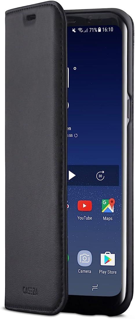 CASEZA Samsung Galaxy S8 Plus Funda Negro Tipo Libro Piel PU Case ...