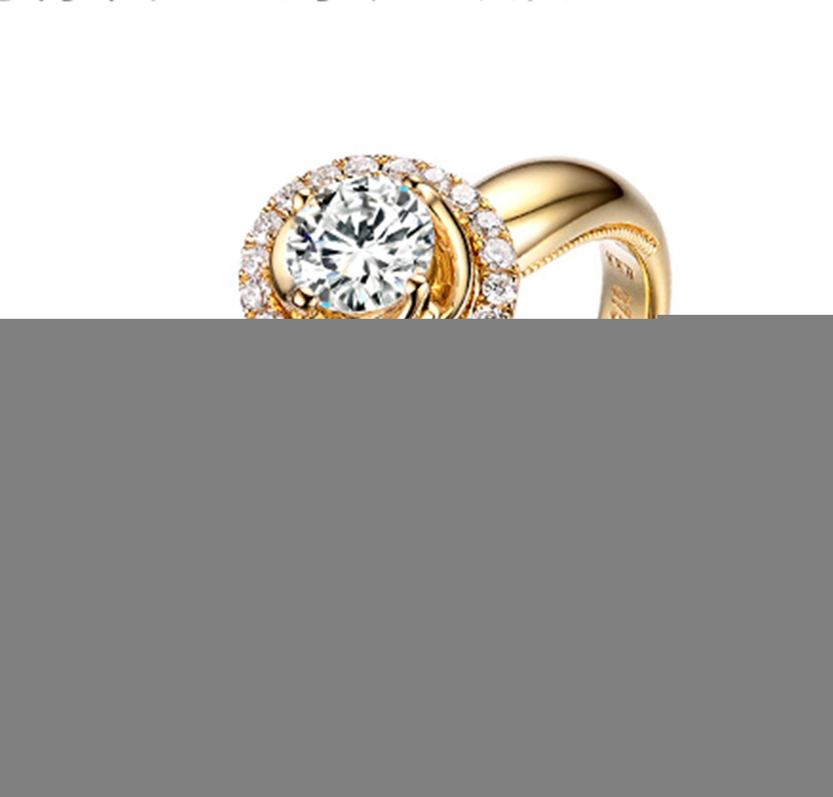 Gnzoe Rose Gold Women Wedding Rings Solitaire Promise Rings Crown Flowers Yellow with White Blue 0.5ct Diamond Size 5