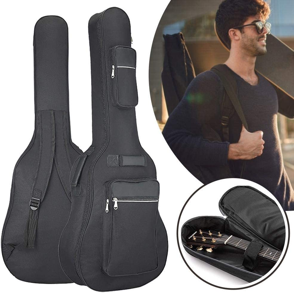 Folk Guitar Acoustic Guitar Bag Double Strap Durable Black Padded Sponge 40//41 Inch,ORANGELD Guitar Bag Carry Case