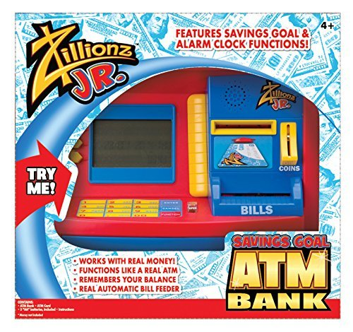 Zillionz Jr. Deluxe ATM Savings Bank by Zillionz - Deluxe Atm Toy Bank