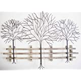 Attractive Wall Art   Metal Wall Art Picture   Winter Tree Scene