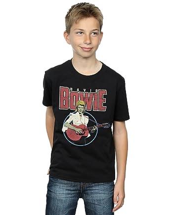 David Bowie Jungen Acoustic Bootleg T-Shirt 3-4 Years Schwarz