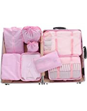 Meowoo Packing Cubes,8 Set Travel Storage Bags Suitcase Organizer Luggage Pouches