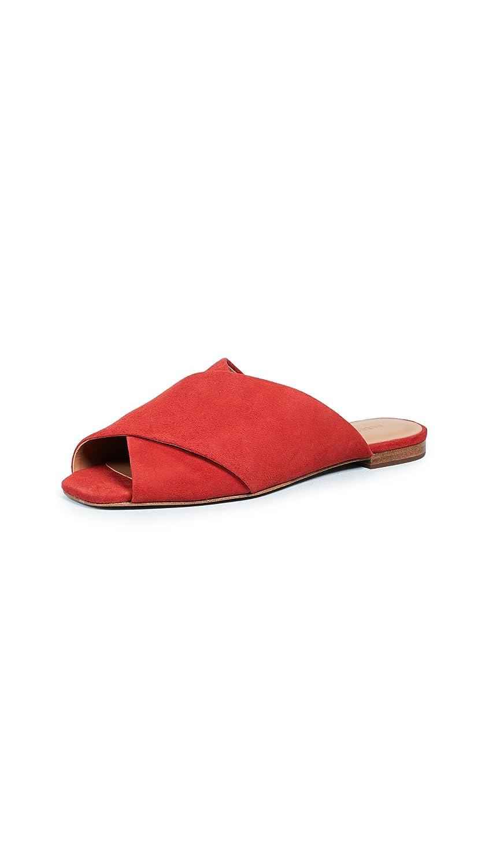 Rebecca Minkoff Women's Anden Peep Toe Flats B07B262DBG 5 B(M) US|Cherry