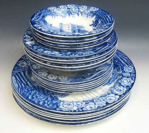 Lot of 23 Wood & Sons China CASTLES BLUE/ENOCH WOODS Plates and Bowls VG