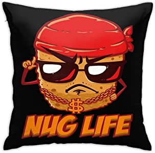 Funny Chicken Nugget Nug Life Junk Food Nuggets Square ...