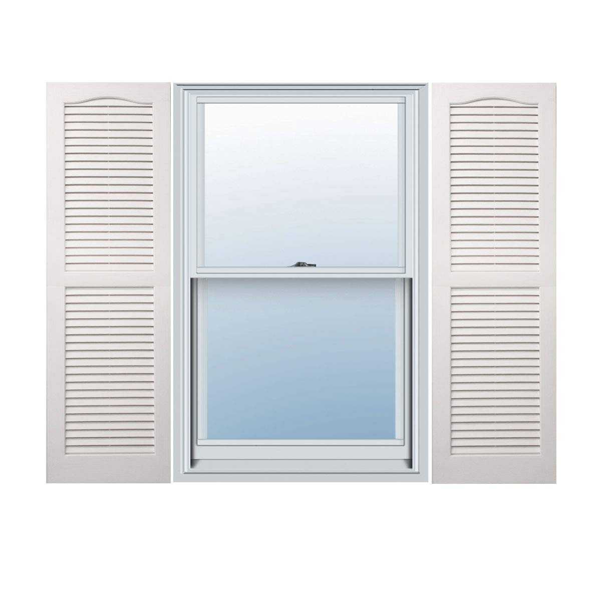 Alpha VNB1547WHOL Open Louver, 2 Pack, 14'' x 47'', White by Alpha