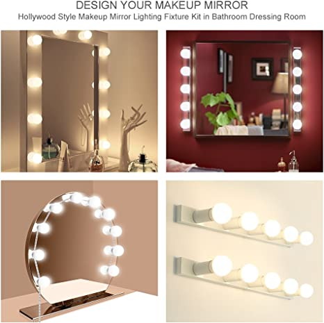 Vanity Mirror Lights Wall Mount Hollywood Style Led Vanity Lights With 10 Adjustable And Dimmable Led Bulbs Vanity Light For Makeup Lighting Fixture Strip For Dressing Room And Bathroom White Vanity Lights