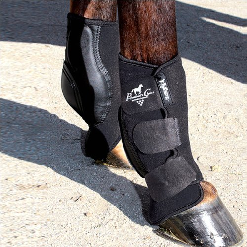 (Professional's Choice Equine Ventech Slide Tec Skid Rear Leg Boot, Pair (10.5-Inch, Black))