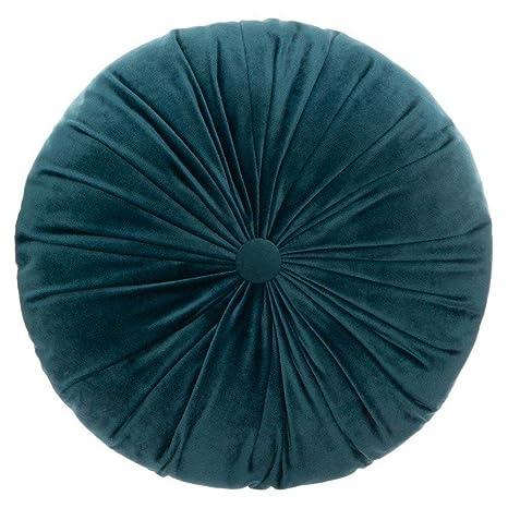 Atmosphera - Cojín Redondo (Terciopelo Azul petróleo D 40 cm ...