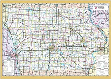 36x60 Iowa State Official Executive Laminated Wall Map
