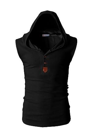 Yacun Camiseta Sin Mangas con Capucha Hombres Sudadera con Capucha Tops Casual Camisa: Amazon.es: Ropa y accesorios