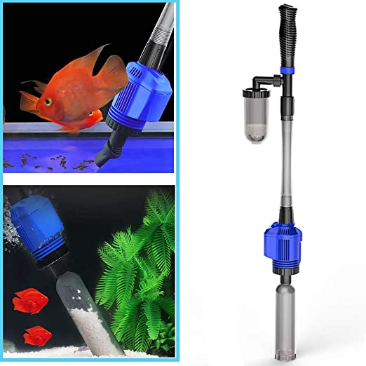 Haolv Limpiador de Grava eléctrico, Limpieza de acuarios con sifón Flxible, Aspirador de Acuario con Cambiador de Agua - Limpiador de Arena: Amazon.es: Productos para mascotas