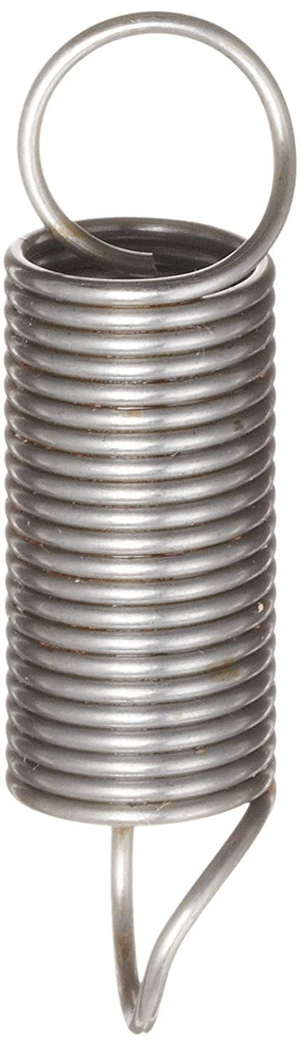 Steel Pack of 10 13 mm OD Associated Spring Raymond T31880 Music Wire Extension Spring 82.1 mm Extended Length 0.80 N//mm Spring Rate 42.2 N Load Capacity 1.2 mm Wire Size Metric 37.4 mm Free Length