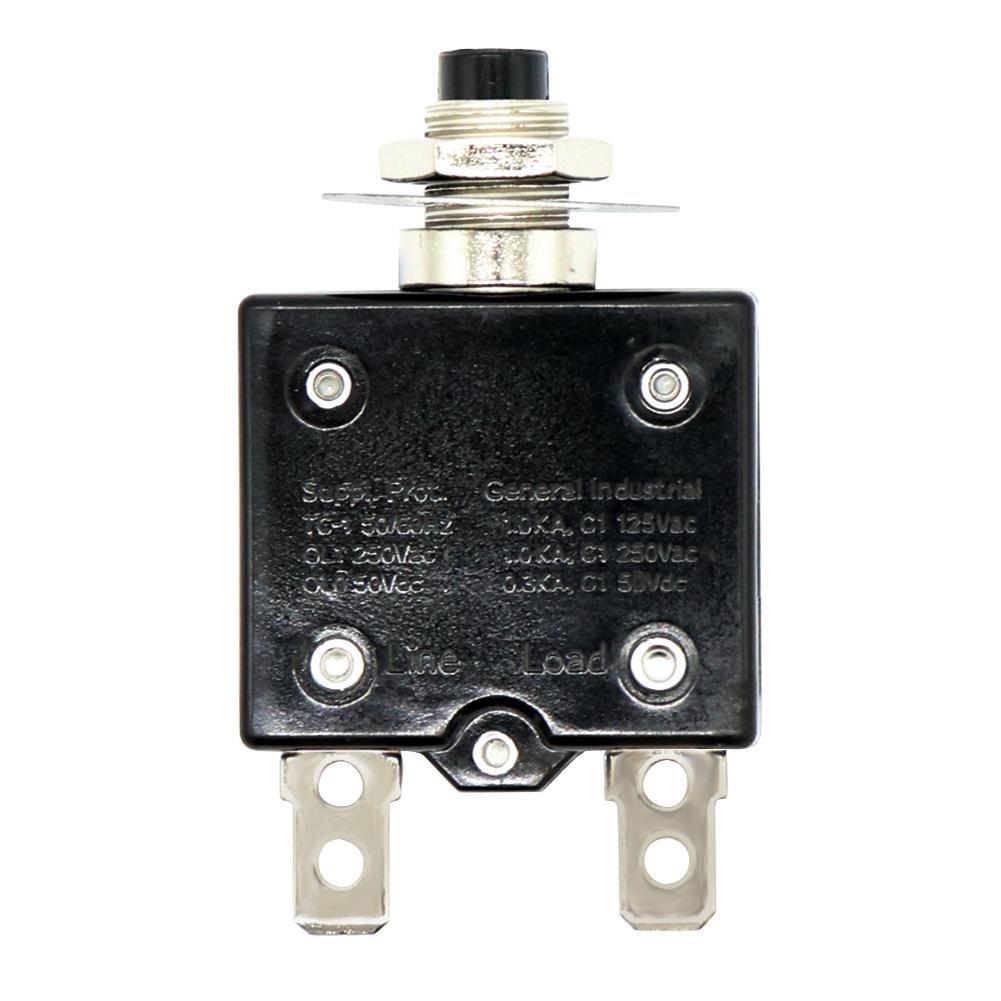 Manual Reset Circuit Breaker 125-250V AC 50V DC Push Button Thermal Circuit Breake