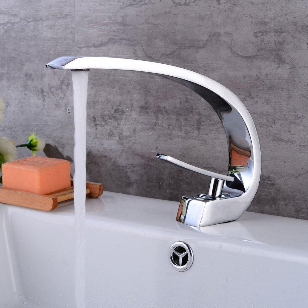 LPW Wasserhahn Einlochmontage Waschtischmischer Kupfer warm Wassermischer Waschtischmischer Waschtischmischer
