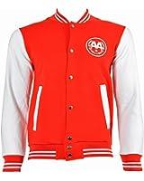 Asking Alexandria Snake Varsity Jacket (Red/White)