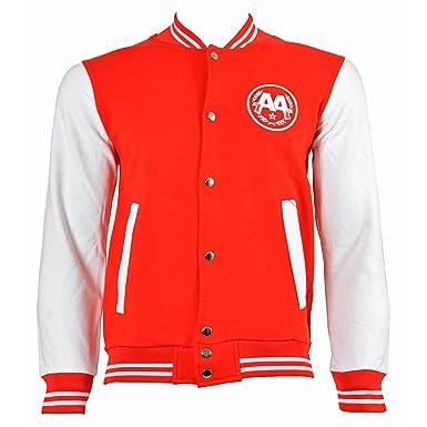 Asking Alexandria Snake Varsity Jacket Red White Small Amazon