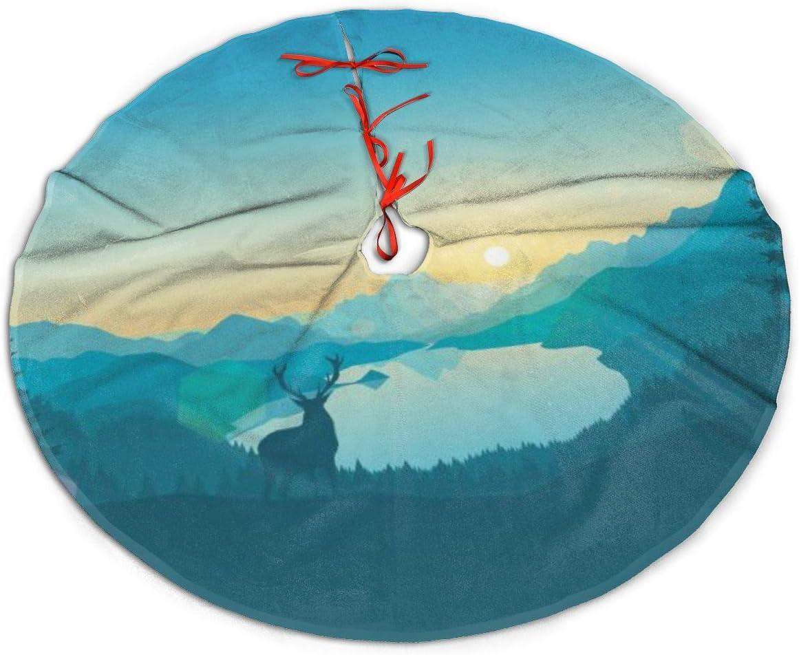 Lake Forest Christmas Lights 2020 Amazon.com: Christmas Tree Skirt, Lake Forest Sky Rustic Or