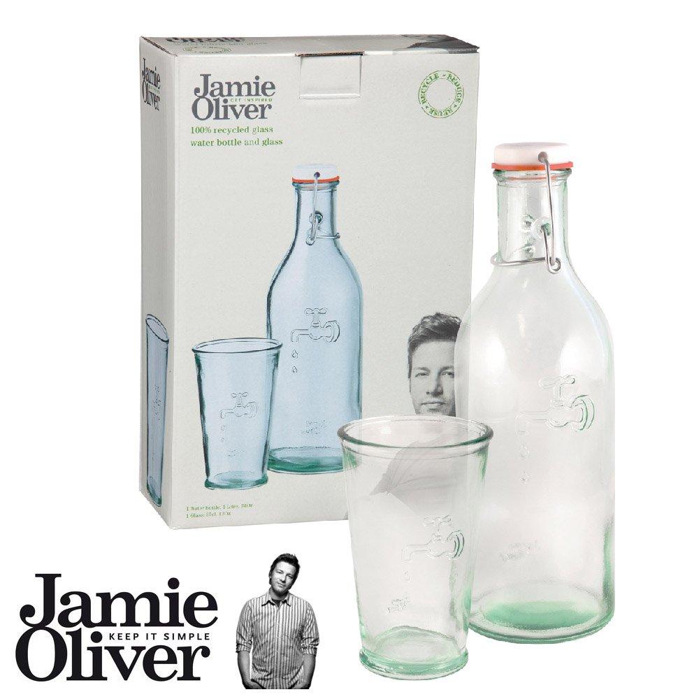 Jamie Oliver Wasserflasche 1 ltr. mit Trinkglas 0,35 ltr.: Amazon.de ...