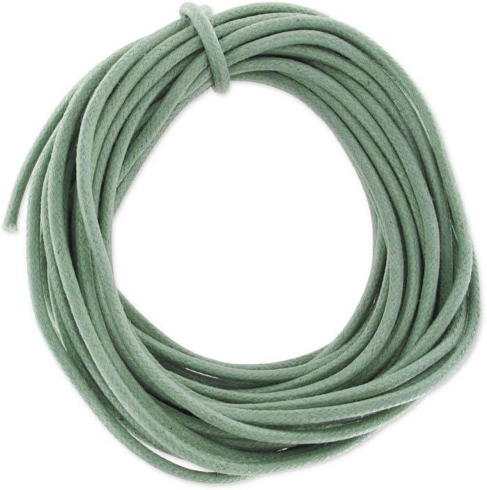 Hilo algodón encerado 2 mm Kaki claro x5 m: Amazon.es: Juguetes y ...