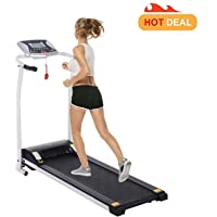 Fitness Folding Electric Support Motorized Power Jogging Treadmill Walking Running Machine Incline Trainer Equipment [US Stock]