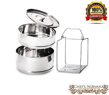 Ultra Original más grande apilable 2 niveles acero inoxidable separador de cocina olla a presión de