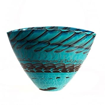 YourMurano Vase aus Glas von Murano, Vase Deko Türkis, Hohe ...