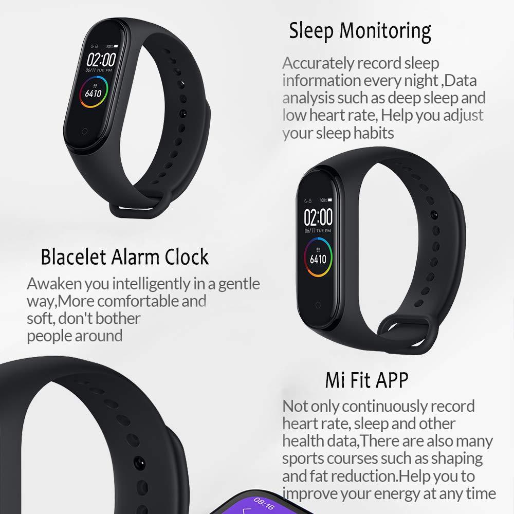 Xiaomi Band 4 Pulsera de Fitness Inteligente Monitor de Ritmo cardíaco 135 mAh Pantalla Color Bluetooth 5.0 más Reciente 2019(Negr