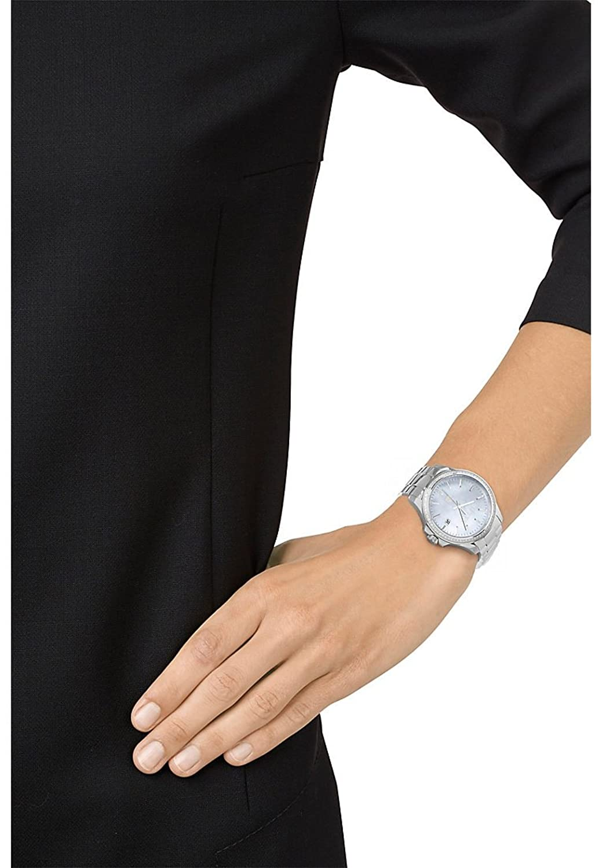 JETTE Time Damen-Armbanduhr Time Edelstahl Analog Quarz One Size - perlmutt-blau - silber