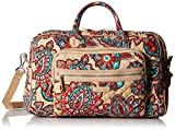 Vera Bradley Iconic Compact Weekender Travel Bag, Signature Cotton, Desert Floral + 1.50 Power