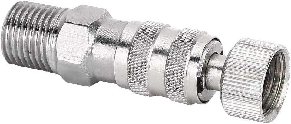 adaptador de compresor de aire profesional para mantenimiento de accesorio de aer/ógrafo accesorio de desconexi/ón de liberaci/ón r/ápida Conector de aer/ógrafo acoplador de aer/ógrafo