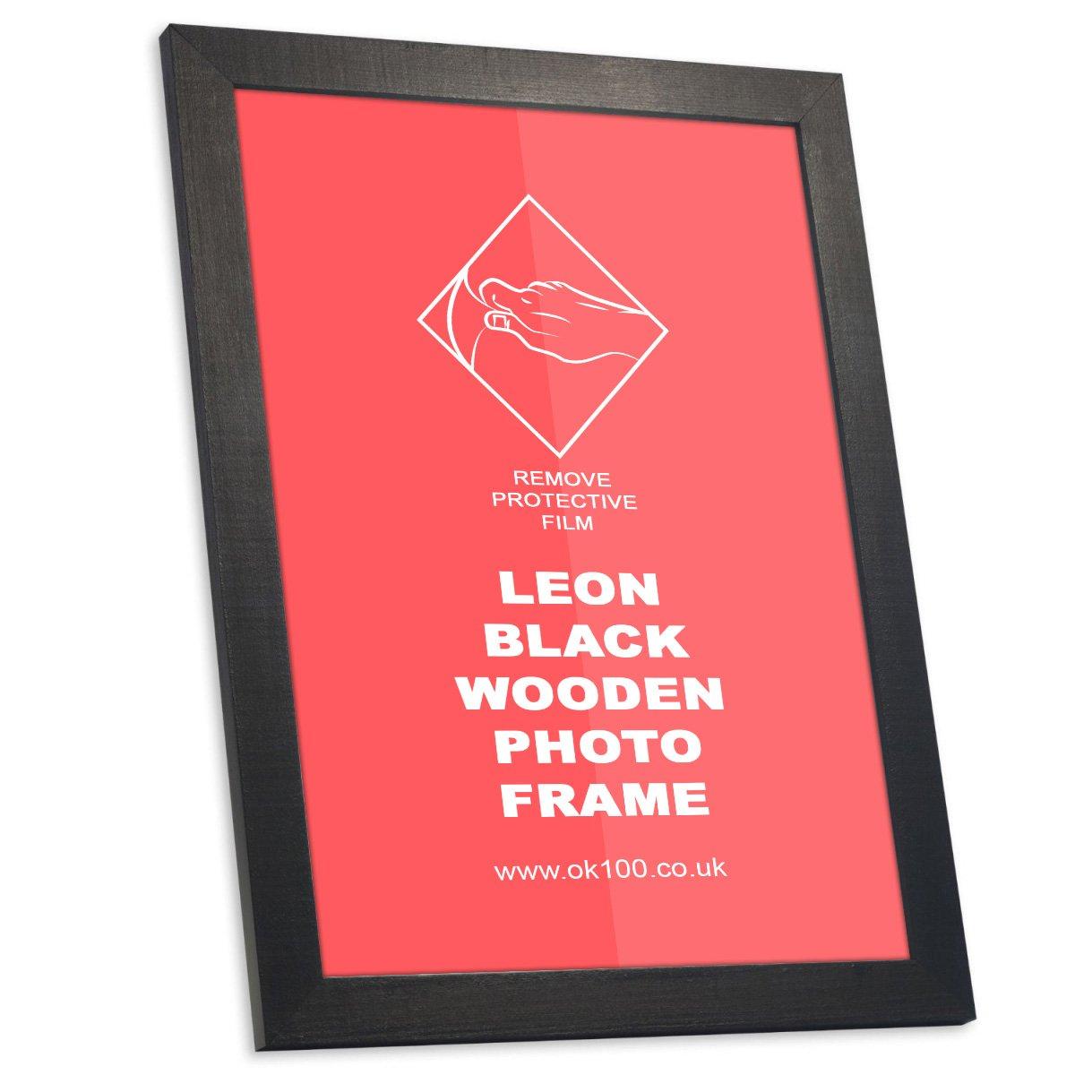 GMGOLD Cadre Photo Bois Noir Leon Lot de 1 NOIR, 4x6 Pouces Environ 10x15 cm